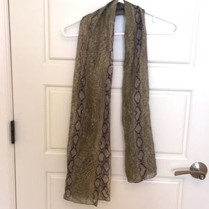 $5 in bundle sheer snakeskin-pattern summer scarf